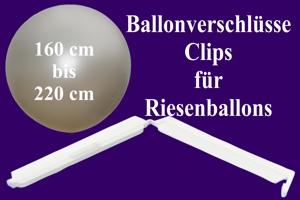 Ballonverschlüsse, Clips für Riesenballons von 160 cm bis 220 cm
