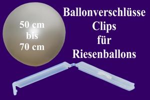 Ballonverschlüsse, Clips für Riesenballons von 50 cm bis 70 cm