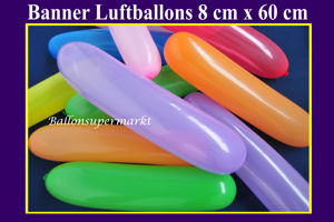 Banner Luftballons, 8 cm x 60 cm