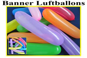 Banner Luftballons, Spiralen Luftballons