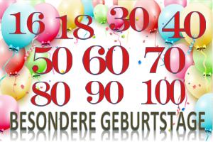 Besondere Geburtstage, Dekoration u. Luftballons