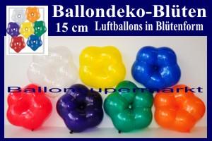Blüten-Luftballons, 15 cm