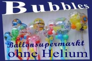 Bubbles Luftballons, ohne Helium