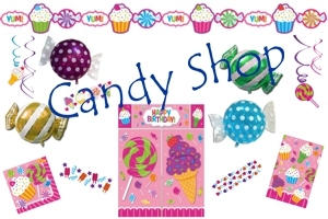 Candy Bar Geburtstagsdekoration