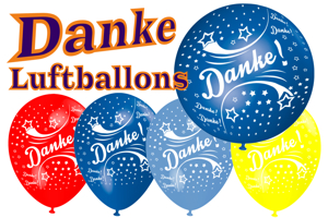 Luftballons Danke