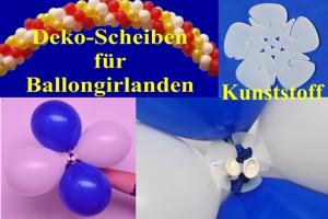 Dekoscheiben für Ballongirlanden aus Kunststoff