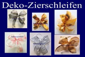 Deko-Zierschleifen, Schleifen aus Zierbändern