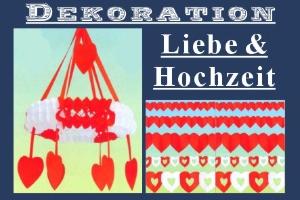 Dekoration Liebe und Hochzeit