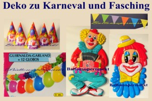 Dekoration zu Karneval und Fasching