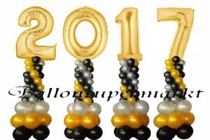 Dekorationen aus Luftballons zu Silvester