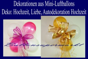 Dekorationen aus Mini-Luftballons