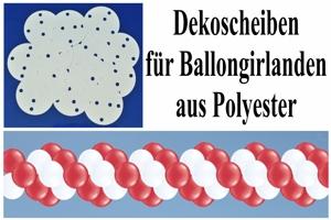 Dekoscheiben für Ballongirlanden aus Polyester