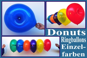 Donuts Ballons, Ballondeko Ringballons, Einzelfarben