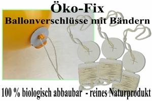Öko-Fixverschlüsse mit Ballonbändern für Luftballons bis 40 cm Ø