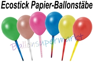Ballonstäbe aus 100% Papier