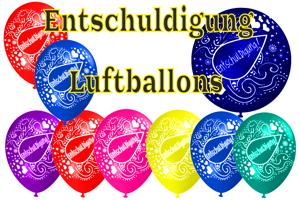 Luftballons Entschuldigung