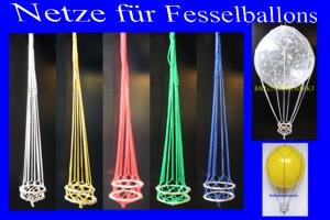 Fesselballon-Netz mit Korb