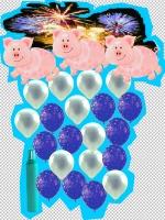 Feuerwerk und Glücksschweinchen
