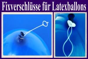 Patentverschlüsse für Latexballons