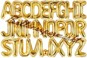 Buchstaben Luftballons aus Folie, 35 cm, Gold