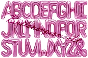 Buchstaben Luftballons aus Folie, 35 cm, Pink