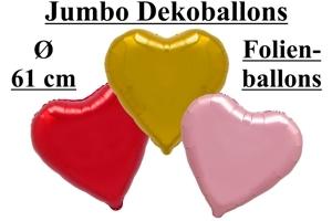 Folienballons Herzen 61 cm