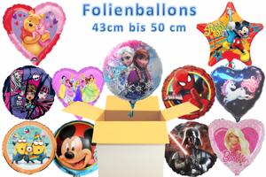 Luftballons aus Folien, 45 cm, inklusive Helium-Ballongas