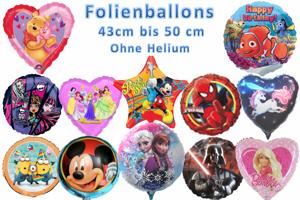 Folienballons 43 cm bis 50 cm Motive, ohne Helium