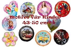 Luftballons aus Folie mit Kindermotiven