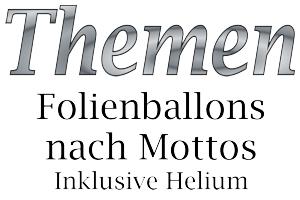 Folienballons mit Helium nach Themen