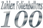 Folienballons Zahl 100