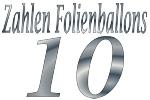 Folienballons Zahl 10