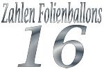 Folienballons Zahl 16