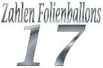 Folienballons Zahl 17