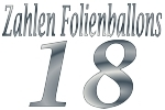 Folienballons Zahl 18