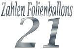 Folienballons Zahl 21