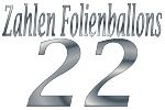 Folienballons Zahl 22