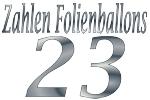 Folienballons Zahl 23
