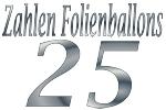 Folienballons Zahl 25