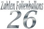 Folienballons Zahl 26