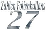 Folienballons Zahl 27