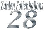 Folienballons Zahl 28