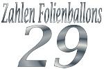 Folienballons Zahl 29
