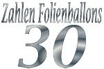 Folienballons Zahl 30