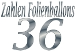 Folienballons Zahl 36