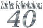 Folienballons Zahl 40