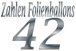 Folienballons Zahl 42