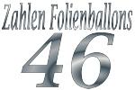 Folienballons Zahl 46