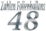 Folienballons Zahl 48