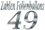 Folienballons Zahl 49